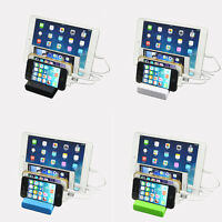 4-Port Multi USB Charging Station Stand Desktop Chargers Dock For IPhone Tablets