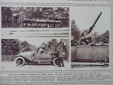 "1916 CAR-MOUNTED LEWIS GUN ""HOSE OF DEATH"" ANTI-AIRCRAFT CAR WWI WW1"