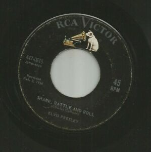 ROCKABILLY - ELVIS PRESLEY- SHAKE RATTLE AND ROLL -  HEAR 1959 RCA 447-0615