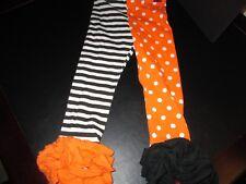 Mud Pie Halloween Orange and Black Tights, Size 4T, New