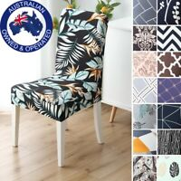 2-6 Pcs  Spandex Elastic Stretch Slip Cover Washable Dining Kitchen Chair