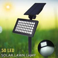 50 LED Waterproof Solar Powered Flood Light Outdoor Yard Garden Lawn Spot