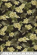 Chardonnay Grapes Quilt Fabric - Free Shipping - 1 Yard