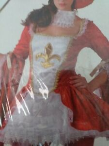 Madam musketeer fancy dress costume L