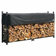 Firewood Log Rack Large 2.4m Metal Garden Outdoor Patio Wood Storage Shed Cover