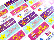 Bon Anniversaire French Happy Birthday Labels Stickers For Cards HB-FR-4715-1