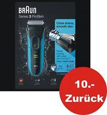 Braun Series 3 ProSkin 3045s Rasierer  schwarz/blau wet&dry Akku