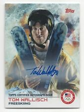 2014 Topps USA Olympic Team Authentic Autograph #91 Tom Wallisch Freeskiing