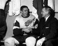 Marcel Pronovost, Sid Abel Detroit Red Wings 8x10 Photo