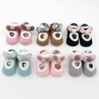 Newborn Baby Boys Girls Cartoon Ears Floor Socks Anti-Slip Baby Step Socks