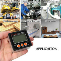360°Magnetic Digital Inclinometer Level Box Gauge Angle Meter Finder Protractor
