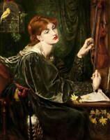 Dante Gabriel Rossetti Veronica Veronese Poster Reproduction Giclee Canvas Print