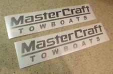 """MasterCraft Boat Vintage Decals 12"""" Die-Cut 2-PAK FREE SHIP + FREE Fish Decal!"""