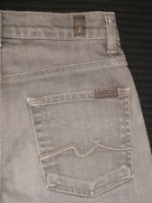 7 For All Mankind Ginger jeans Gray Distressed USA Made Sz 27