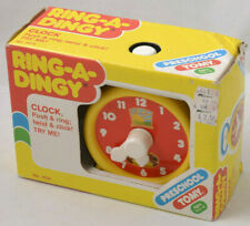 Tomy Ring-a-Dingy Clock Toy NOS 1985 Vintage New in box Preschool Learning Toy