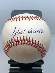 Hank Aaron Signed Baseball JSA COA!