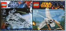 Lego Star Wars Clone Wars Mini Combo Set Lot Imperial Destroyer & Shuttle RARE