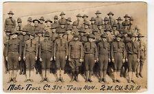 MOTOR TRUCK Co 314, TRAIN 404, 2M.C.U. S.N.U: US Army postcard (C11036)