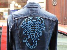 Scorpion Iron-On Jean Back Patch Decorative Motif Denim Vintage Sewing Applique
