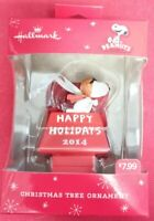 Hallmark Peanuts Snoopy Red Baron Happy Holidays Christmas Tree Ornament 2014