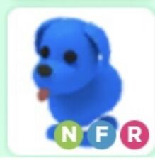 Roblox - Adopt me - Neon Fly Ride FR Blue Dog Very Rare