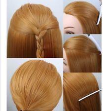 "22"" 30% Real Human Hair Hairdressing Salon Training Head Mannequin Doll + Clamp"