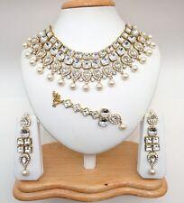 Indiano asiatico Nuziale Gioielli partito etnico Wear Bollywood Collana Set