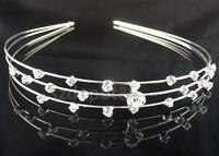 3-Row Crystal Rhinestone Headband Tiara Bridesmaids Bridal Wedding Pageant