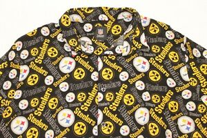 Pittsburgh Steelers NFL Team Apparel Flannel Size XL Collared Short Sleeve Shirt
