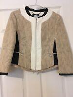 Karen Millen Cream Beige and Black Jacket  Size 8