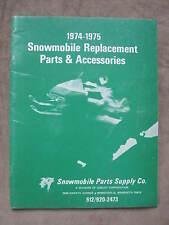 1974 Snowmobile Parts Accessories Catalog Arctic Cat Polaris Rupp Ski Doo