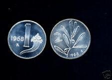 1 Lira  + 2 Lire 1968 in FDC ass.!!