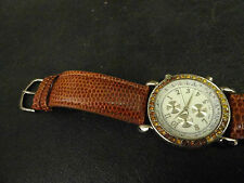 Ladies Quartz watch running perfect, sharp looking Brown leather band