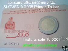 coin card 2 euro 2008 SLOVENIA Primoz Trubar Slovenie Slowenien Eslovenia