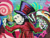 Graffiti Mad Hatter - CANVAS OR PRINT WALL ART