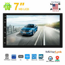 Android 8.1 Double 2 Din HD Quad Core GPS WiFi Car Stereo MP5 Player FM Radio US