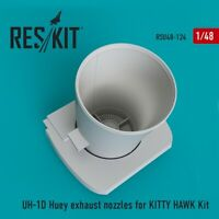 Reskit RSU48-0124 - 1/48 UH-1D Huey exhaust nozzles for KITTY HAWK Kit scale UK