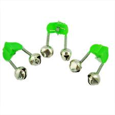 3 pz Campanello allarme pesca Canna da pesca Pole doppia campana con c verd M4C1