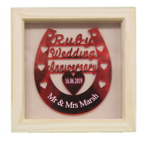 40TH RUBY WEDDING ANNIVERSARY PERSONALISED GIFT - MADE TO ORDER