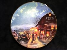 Dave Barnhouse Tales Of The Day Collector Plate - John Deere Tractor Feed Mill