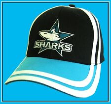 NRL CRONULLA SHARKS Cap Black Adjustable Official w/tags NEW!