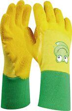 Kinderhandschuhe Gartenhandschuhe FROGGY Latex Größe 4 Strickbündchen 4-6 Jahre