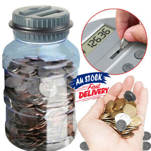LCD Money Jar Digital Counting Bank Saving Box Counter Coin Electronic