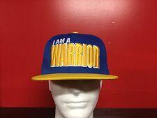 """GOLDEN STATE WARRIORS """"I AM A WARRIOR"""" SnapBack CAP  **regular $39.99**"""