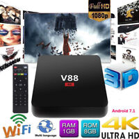 V88 4K TV BOX Android 7.1 Hot Smart RK3229 Quad Core HD WiFi Media Player CHW