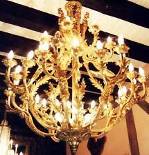 KRONLEUCHTER LÜSTER SAAL BURG SCHLOSS KÖNIG PALAST LAMPE LEUCHTER antik Barock