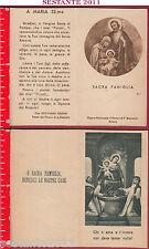 2991 SANTINO HOLY CARD  MADONNA ROSARIO POMPEI SACRA FAMIGLIA PICCOLI P. BECCARO