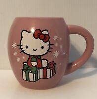 Hello Kitty Happy Holidays Oval Pink Ceramic Cup Mug Vandor Sanrio 2013