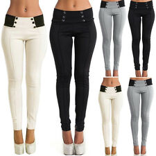 FEMME TAILLE HAUTE SKINNY fin Leggings Pantalon long extensible fourreau