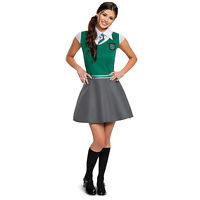 Womens/Teen Harry Potter Slytherin Uniform Halloween Costume Dress Jr S M L XL